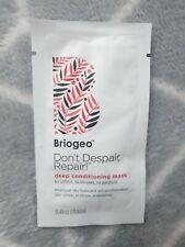 New Briogeo Don't Despair, Repair! Deep Conditioning Mask Sample 11.8ml FastPost