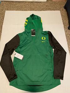 Nike Oregon Ducks Football Pregame Fuse Pullover 1/4 Zip Jacket Men's Size: 3XL*