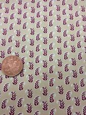 100% Cotton Tessuto Trapuntato Beige Viola Pennello Studios Prateria Homefront