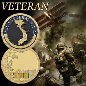 Pièce de défi militaire en argent de la guerre du Vietnam pour soldat collection