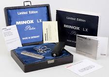 Minox LX PLATIN Limited EDITION No.Pt 092 KOMPLETT: Papiere, Holzetui, Karton!!!