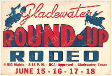 Gladewater Round Up Texas RCA Rodeo Print 13 x 19