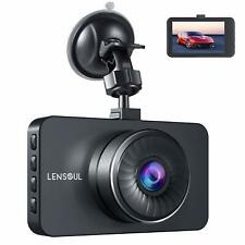 "Lensoul Dash Cam Dashboard Cam Full HD 1080P Car Camera Recorder 3"" LCD with WDR"