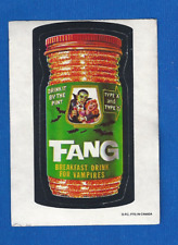 1974 Topps Original Wacky Packages  4th Series OPC Fang Breakfast Drink tan back