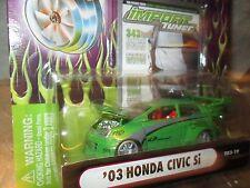 2003  honda civic Si  green muscle machine Import tuner funline  honda  1/64 03