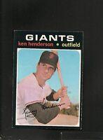 6539* 1971 Topps # 155 Ken Henderson NM