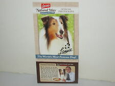 "LASSIE  MOST FAMOUS DOG OFFICIAL ""PAWTOGRAPH"" TV PROMO PHOTO CARD & COUPON"