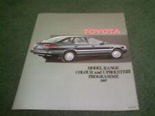 1987 TOYOTA COLOUR TRIM CHART Corolla MR2 Celica Supra Starlet Tercel - BROCHURE