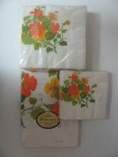 New Vtg Hallmark Collectible Tablecloth Napkins 70s 80s Flowers Orange Yellow