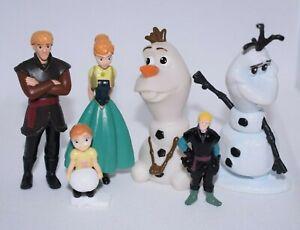 5x Disney Frozen Figures Olaf Snowman Anna Kristoff Toys Bundle P32