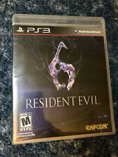 """RESIDENT EVIL 6"" PS3 PlayStation 3 game Capcom original case & insert [2012]"