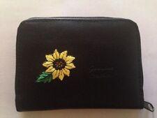 Sunflower Design Leather Wallet Credit Card ID Holder Sun Flowers