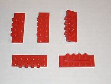 LEGO NEW 2x6x0.667 Red Plate Four Studs On Side (5x) 4565431 Brick 87609