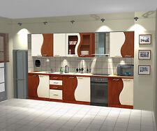 Küche / Küchenzeile / Küchenblock / Birne-Vanille / 260 cm / NEU