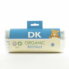 DK Organic Cotton Cellular Blanket. 75x100cm. Breathable. Perfect for Prams, Cri