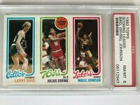1980 TOPPS Larry BIRD Erving MAGIC Johnson PSA 8 NM-MINT ROOKIE RC