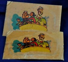 2 vintage Popeye Olive Blotto Baby Swee' Pea Vintage water Sticker 70s' rare