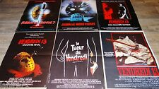 VENDREDI 13 friday the 13th !  les 6 affiches cinema  horreur