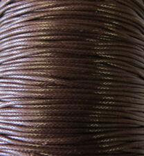 1mm Dark Brown Genuine Wax Natural Cord -50 Yards Jewelry Supplies