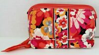 Vera Bradley PIXIE BLOOMS Zip Around Accordion Wallet Pink Orange Clutch