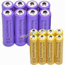 16pcs AA +AAA 3000mAh 1800mAh NiMH Rechargeable Battery