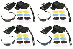 CHEX Ace Fishing Sports Sunglasses 5 Different Lenses Inc Rainbow & Clear