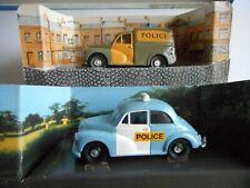 Corgi 96744 Morris Minor Saloon Police & 96855 Morris 1000 Van Wilts Police+boxs