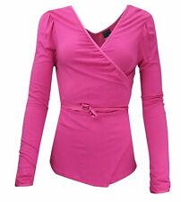 NIKE WOMEN`S YOGA COVER UP WRAP TOP SIZE UK 8-10 (US 4-6) / SMALL CERISE RRP £48