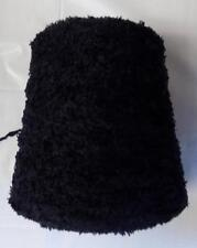 ACRYLIC CHENILLE 1000 YPP DK/LIGHT WORSTED CONE YARN 6 LBS 13 OZS BLACK (A13)