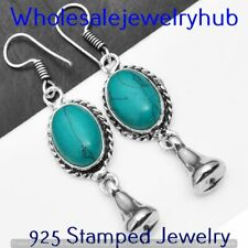 Plated Earring Jewelry Sme-7-232 Turquoise Earring 925 Sterling Silver