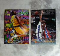 Lot/2 1996 Kobe Bryant Rookie Cards Scoreboard RC#15 and Flair Hot#'s LA Lakers