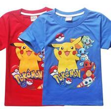 Newest Kids Tee Boy Girls Pokemon Go T-Shirt Cartoon Pikachu Unisex Top 3-8Years