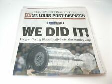 2019 STANLEY CUP BLUES St Louis Post Dispatch 2 Newspapers Enterprise Edition +