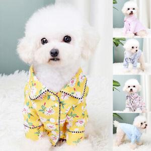 Cat Dog Pajamas Soft Cotton Small Pet Clothes Apparel Puppy Jumpsuit Costume AU#