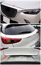 fit Mazda CX-3 2016-2018 Front Hood + Rear Tailgate Cover + Rear Trunk Lid Trim