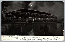 Postcard Lake Manawa IA c1907 Manhattan Beach At Night