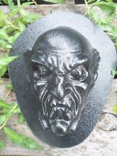 "creepy zombie plastic mold plaster concrete mould 7"" x 5"" x up to 2.5"" thick"