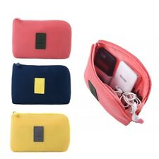 Pink Travel Storage Bag for Digital Data Cable Charger Headphone Case Portable