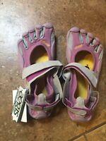 Vibram Fivefingers W1139 Sprint Fuschia Grey Lilac Women Size 37 US 7-7.5