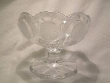 Fostoria Clear Coin Glass Candy Bowl / Compote /Sherbert