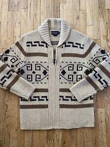 Pendleton Westerley Cardigan Wool Sweater Big Lebowski Medium