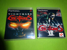 Empty Replacement Cases! Nightmare Creatures 1 II 2 Sony Playstation PS1 PS2