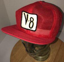 Vintage V8 Vegetable Juice 70s 80s USA All Mesh Trucker Hat Cap Strapback DERBY