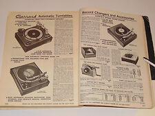 VINTAGE 1963 CONSUMER HIGH END ELECTRONICS CATALOG! SHURE MICS/HARMAN HARDON +++