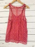 American Eagle Outfitters Womens Tank Top Sz 6 Shirt Pink Floral