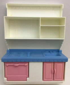 Playskool Victorian Dollhouse Replacement White Kitchen oven stove sink Doors