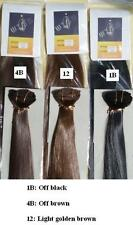 Japan silk Hair extensions with clips on LIGHT PALE BLONDE