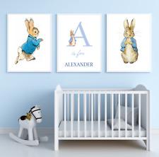 Peter rabbit prints set of 3 letters PERSONALISED nursery prints A4