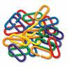 100 Durable Plastic C-Links - Parrot Bird Toy Parts
