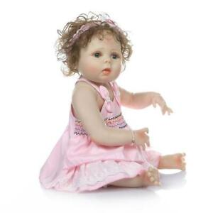 "22"" Full Body Silicone Vinyl Reborn Doll Newborn Waterproof Baby Girl Doll Gift"